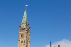 渥太华议会尖沙咀钟楼 库存图片
