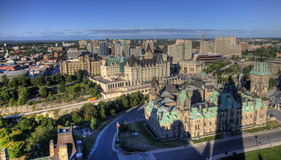 渥太华,加拿大一张鸟瞰图  免版税图库摄影