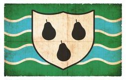 渥斯特夏大英国难看的东西旗子  免版税库存照片