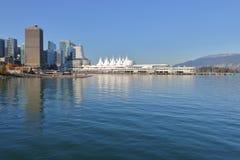 温哥华、加拿大和城市地平线 免版税库存图片
