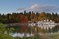 温哥华划船俱乐部在斯坦利公园 免版税库存照片
