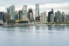 温哥华地平线 街市温哥华视图 库存图片