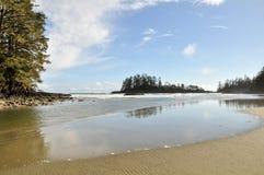 温哥华岛的长滩 免版税图库摄影