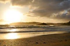 温哥华岛的长滩 免版税库存照片