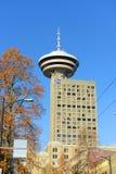 温哥华市地平线, BC,加拿大 免版税库存照片
