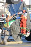 温哥华建筑队倾吐的水泥 库存图片