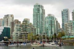 温哥华忙碌的城市 免版税库存照片
