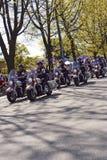温哥华摩托车警察2012年5月 库存照片