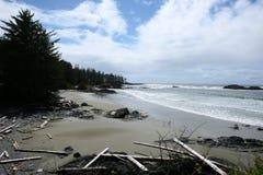 温哥华海岛海滩 图库摄影