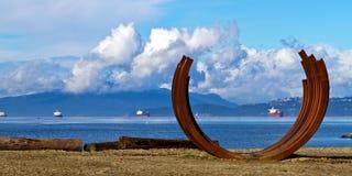 温哥华海滩艺术 库存照片