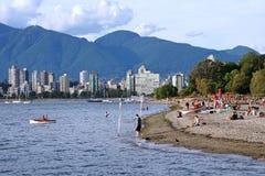 温哥华海滩 库存图片