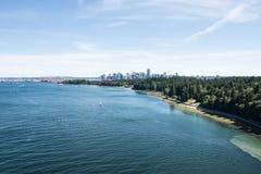 温哥华港口和港口 免版税图库摄影