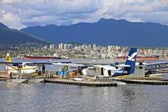温哥华煤炭港口看法  免版税库存图片