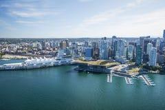 温哥华的空中图象, BC 库存照片