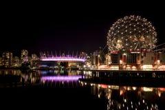 温哥华科学世界和BC地方 免版税库存图片