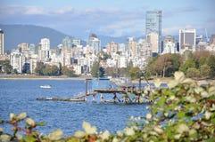 温哥华都市风景 免版税图库摄影