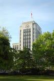 温哥华香港大会堂,不列颠哥伦比亚省垂直 免版税库存图片