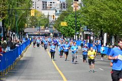 温哥华马拉松2019年5月5日 免版税库存图片