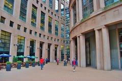 温哥华图书馆在加拿大 库存照片