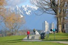 温哥华,加拿大公园早期的春天 免版税库存图片