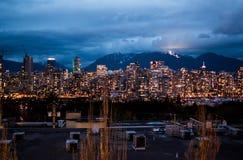 温哥华,加拿大都市风景  库存照片
