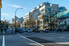 温哥华,加拿大- 2018年1月14日:温哥华第12个大道和Cambie街城市广场购物中心城市 免版税库存图片