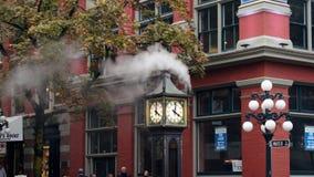 温哥华,加拿大- 2014年9月29日:蒸汽时钟在Gastown 图库摄影