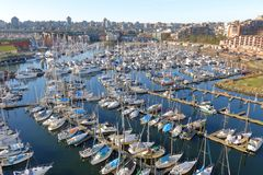 温哥华,加拿大` s渔夫` s码头 免版税库存照片
