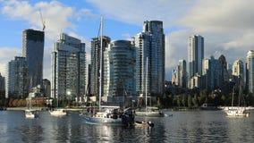 温哥华,有小船的4K加拿大Timelapse  股票录像