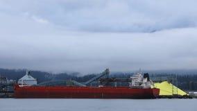 温哥华,横跨港口4K的不列颠哥伦比亚省Timelapse地平线  股票录像