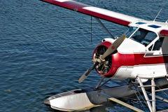 温哥华,英国COLUMBIA/CANADA - 8月14日:被停泊的水上飞机 库存图片