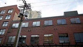 温哥华,BC,加拿大- 2019年1月5日:哈密尔顿st看法在有现在零售和的被转换的仓库的Yaletown 股票录像