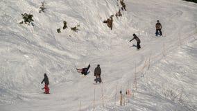 温哥华BC加拿大, 12月5,2017 在松鸡山,温哥华加拿大的滑雪 免版税库存照片