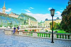 温室在Burggarten在维也纳 库存图片