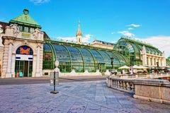 温室在Burggarten维也纳奥地利 库存图片