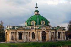 温室在Kuskovo公园在莫斯科 免版税库存照片