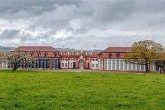 温室在Schloss Seehof,德国 免版税库存照片