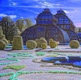 温室在Schonbrunn宫殿的宫殿公园在维也纳 免版税图库摄影
