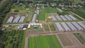 温室框架,顶视图 夹子 温室的建筑领域的 农业, agrotechnics闭合 免版税图库摄影