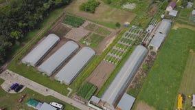 温室框架,顶视图 夹子 温室的建筑领域的 农业, agrotechnics闭合 库存照片