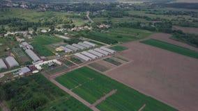 温室的建筑领域的 夹子 农业,闭合的地面agrotechnics  温室框架  免版税图库摄影