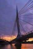 温尼培桥梁 免版税库存照片
