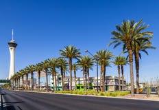 统温层赌博娱乐场和旅馆在拉斯维加斯 免版税库存照片