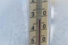 温度在零以下 库存图片