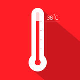 温度计传染媒介例证 库存照片