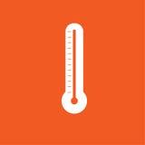 温度计象简单的传染媒介例证 免版税库存照片