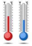温度计 免版税库存照片