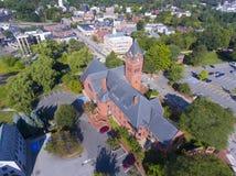 温彻斯特城镇厅, MA,美国 免版税库存图片