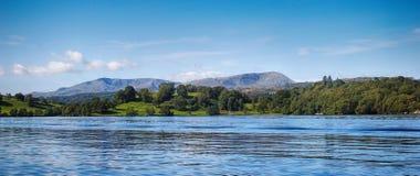 温德米尔,湖区英国 免版税库存图片