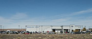 温斯洛福特经销权在温斯洛,AZ 图库摄影